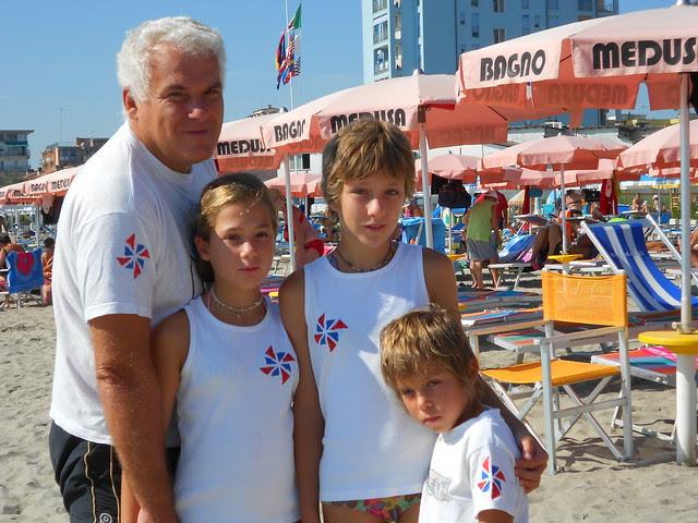 la squadra di beach tennis Ctg Girandoliamo