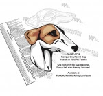 Rampur Greyhound Dog Intarsia or Yard Art Woodworking Pattern - fee plans from WoodworkersWorkshop® Online Store - Rampur Greyhound Dogs,pets,animals,dogs,breeds,instarsia,yard art,painting wood crafts,scrollsawing patterns,drawings,plywood,plywoodworking plans,woodworkers projects,workshop blueprints