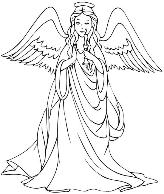 Realistic Angel Coloring Pages at GetColorings.com | Free ...
