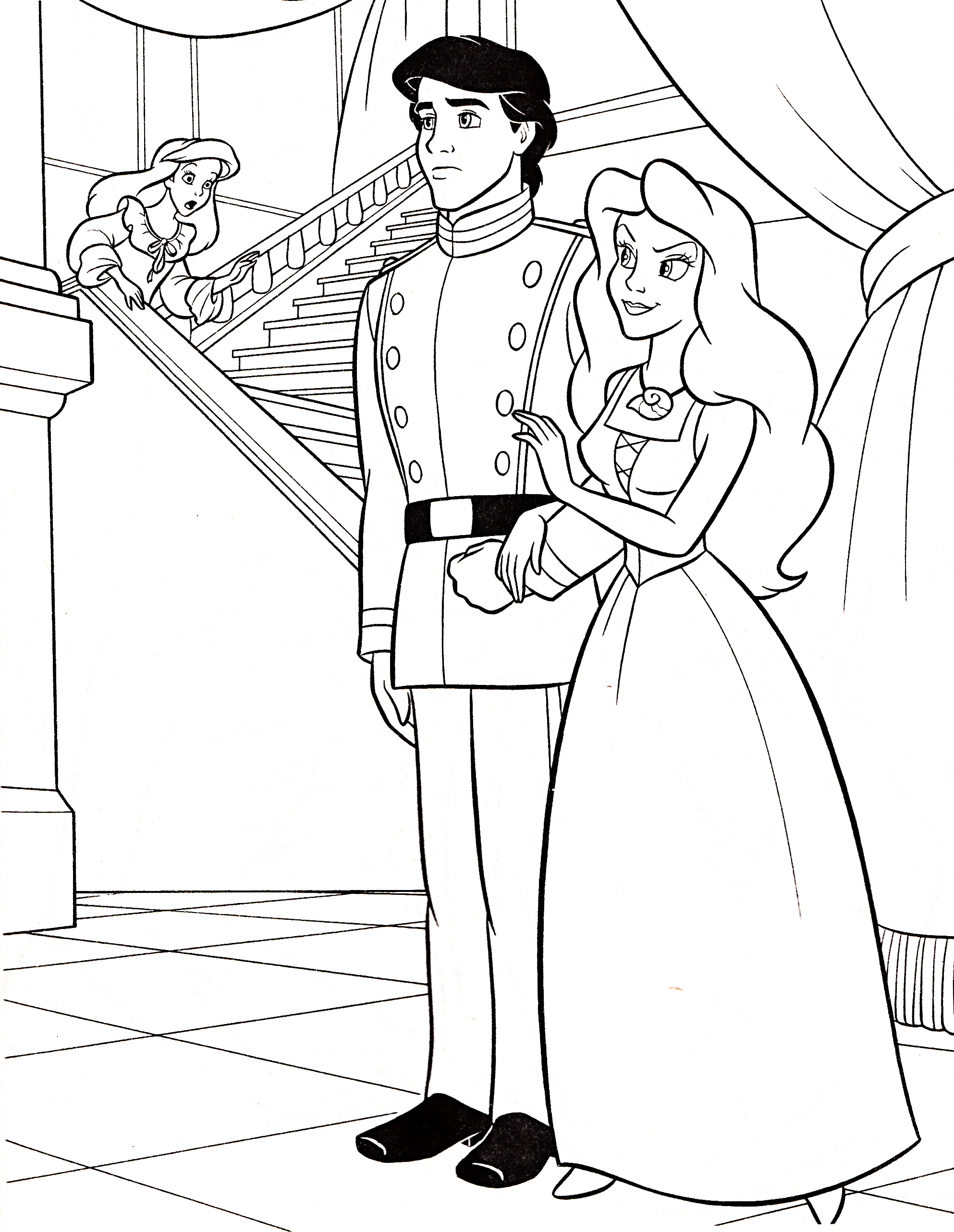 Walt Disney Coloring Pages - Princess Ariel, Prince Eric ...