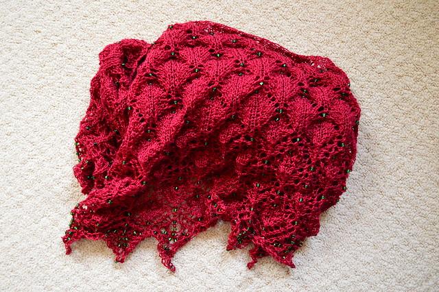 Booknits Morticia shawl MKAL