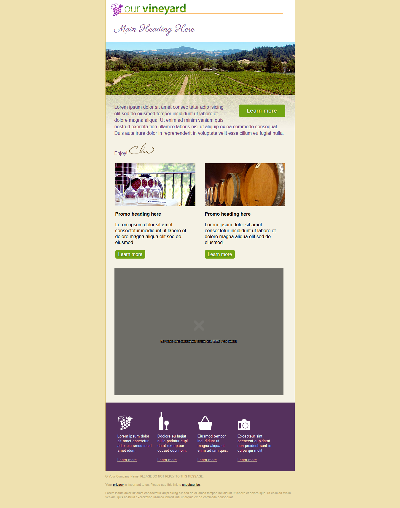 Get Responsive Editable HTML Email Template for $  10 - SEOClerks