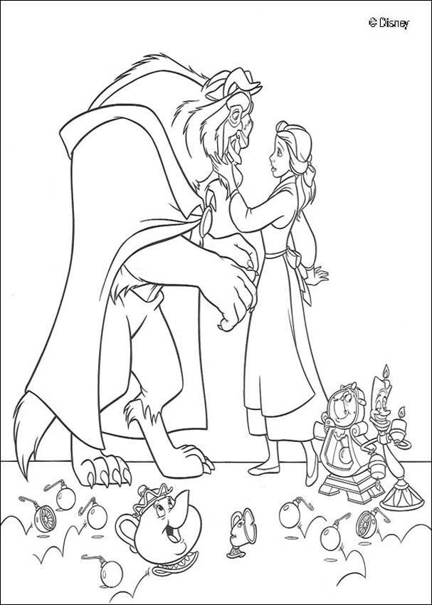 Dibujos La Bella Y La Bestia Para Colorear Disney 18 Imágenes De