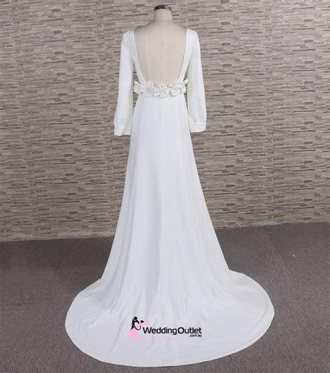 Meghan Simple Satin Wedding Dress   WeddingOutlet.com.au