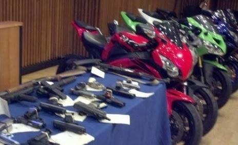 Desmantelan banda robaba motos en NY y las enviaba a Rep. Dom.