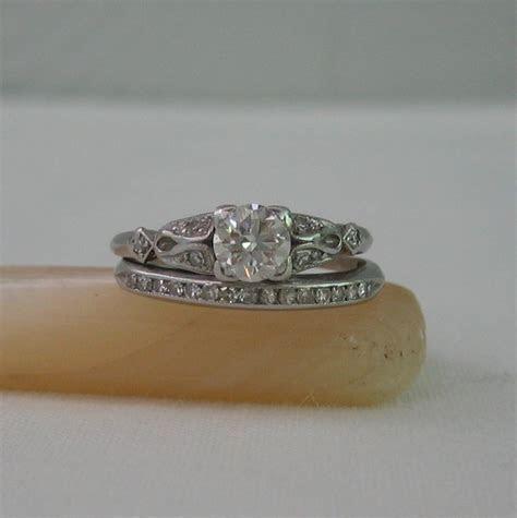 Vintage Engagement Rings Etsy   Wedding and Bridal Inspiration