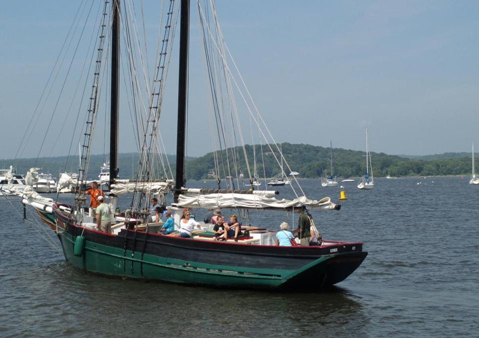 10tank - Come aboard the schooner Mary E for a cruise on the Connecticut River, offered by the Connecticut River Museum. (Diane Bair)