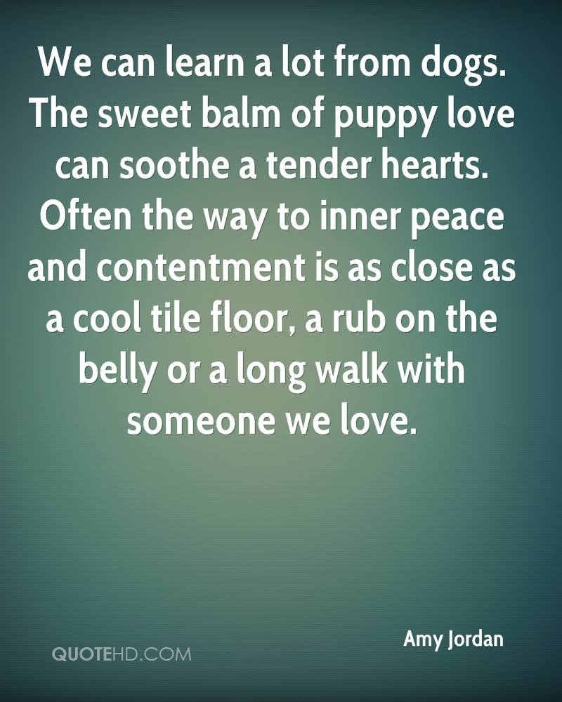 The sweet balm of puppy love can soothe