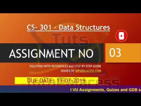 CS301 Assignment 3 Solution 100% Correct with Step by Step Guide  - Data Structures