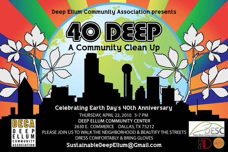 Graphic Design for Deep Ellum Earth Day ⋆ Annilee Waterman ...