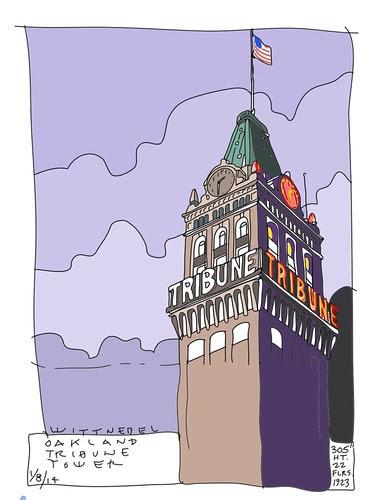 oakland tribune tower colors by douglaswittnebel