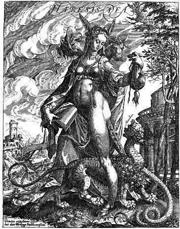 allegorical figure of heresy