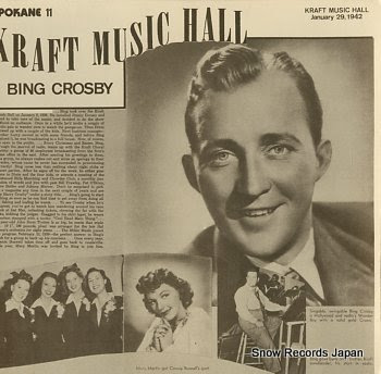 CROSBY, BING kraft music hall jannuary 29, 1942