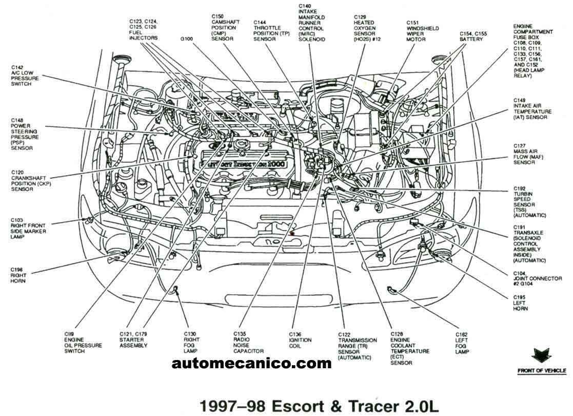 Diagram of 1998 ford escort engine