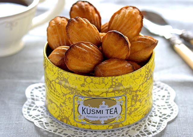 madeleins au thé vert-jasmin