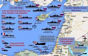 flottes alliées face à la Syrie
