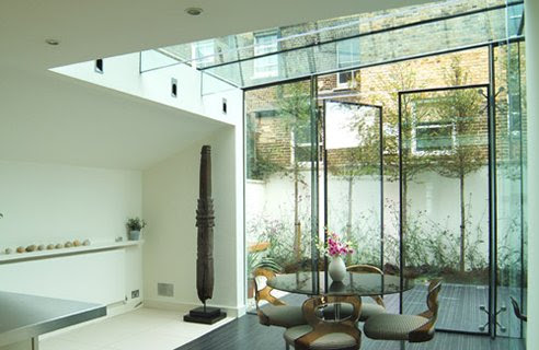 The Best Extension Interior Design with Glass Wall