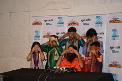 Baba Ramdev Teaching Yoga To The Kids Press Conference by firoze shakir photographerno1