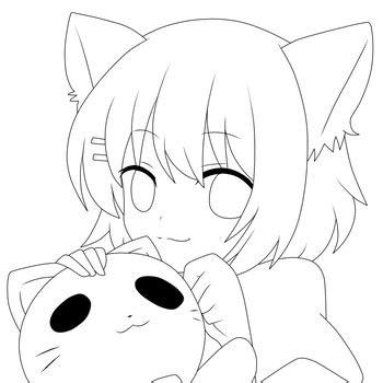 neko lineart  notheryne tutoriais de desenho anime