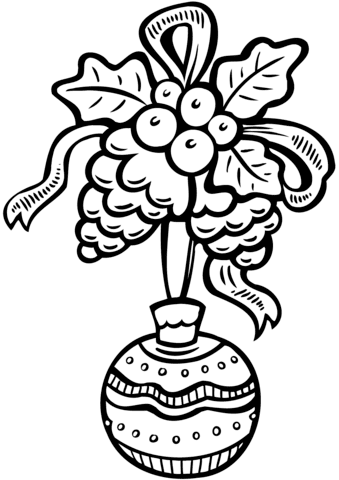 christmas ornament coloring page  free printable coloring pages