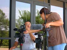 Students from Haskell Indian Nations University in Lawrence, Kan.,  were responsible for all aspects of producing a segment for Where Words  Touch the Earth, from writing and directing to camera work and editing