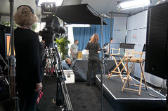 TV Set in Mason St. Tent, Oracle OpenWorld & JavaOne + Develop 2010, Moscone North