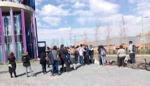 Concentración en los juzgados en apoyo a las personas detenidas. Foto: Aragón Antifaixista