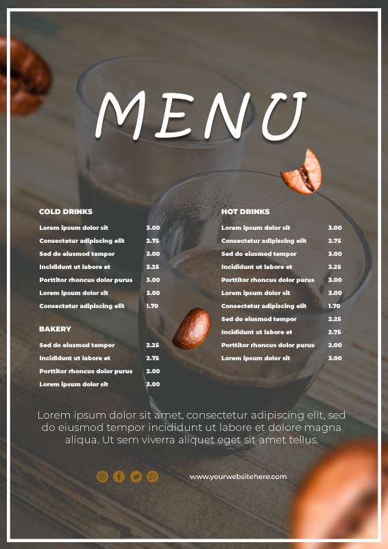 10+ Coffee Shop Menu example psd design | Template Business PSD, Excel, Word, PDF