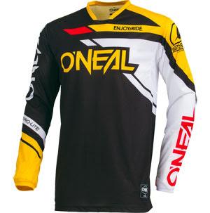O/'Neal Mens Blue//Red//Yellow Hardwear Racewear Dirt Bike Jersey MX ATV Gear 2015