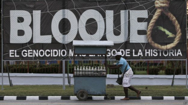 aviso del embargo en Cuba