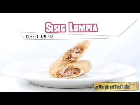Watch @MaryTheFilipina: The SISIG Lumpia!