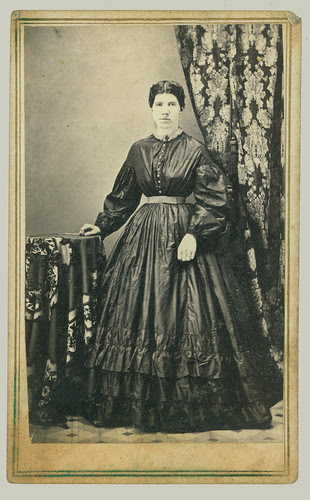 cdv young woman in dress
