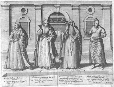 Figuras de mujeres portuguesas en las colonias asiáticas