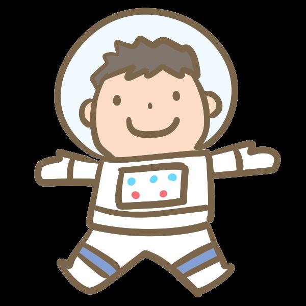 宇宙飛行士男の子のイラスト かわいいフリー素材が無料のイラスト