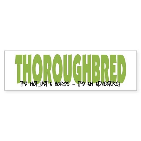 Thoroughbred ADVENTURE Bumper Sticker