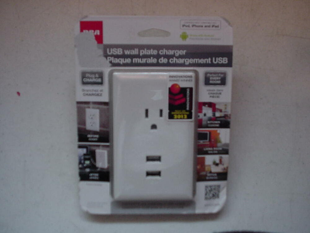 Buy 18 For Rca Usb Wall Plate Charger With Travel Usb Charger 21