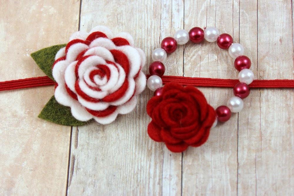 http://www.etsy.com/listing/164022954/christmas-headband-bracelet-set-felt