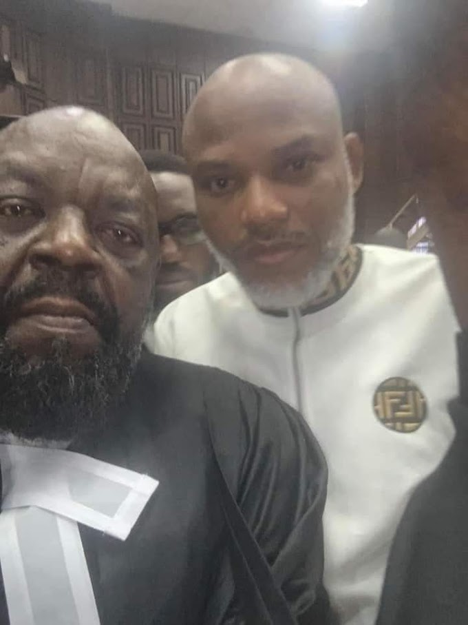 Nnamdi Kanu Pleads 'Not Guilty' To Seven-Count Charge Of Terrorism As Trial Starts