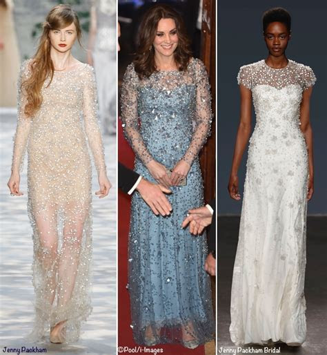 Kate Shines in Shimmering Jenny Packham Gown for Royal