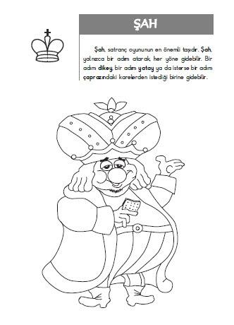 Boyamalarla Satranç Kitabı Okulda Satranç