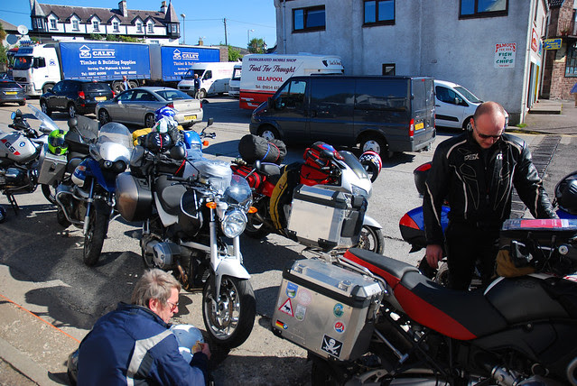 Waiting for the ferry at Ullapool.