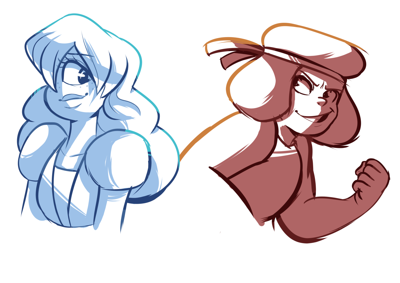 ha ha so how about that fanart quota I set for myself yeah I'm on top of everything Anyway, sketches.