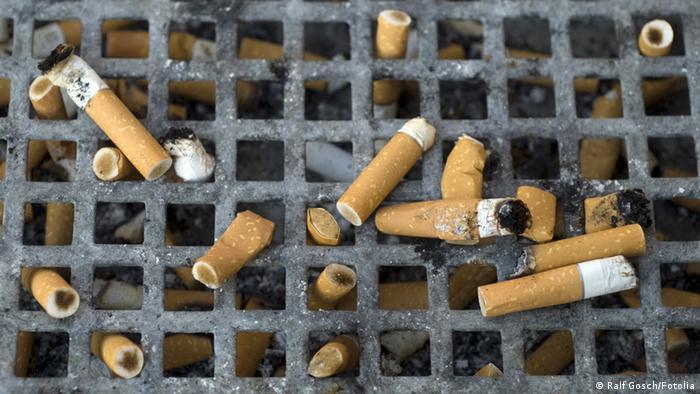 cigarros descartados