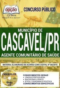 Apostila Concurso Município de Cascavel 2018 | AGENTE COMUNITÁRIO DE SAÚDE