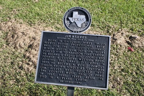 texas historical commission plaque for jim reeves memorial
