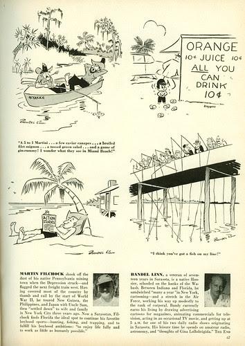 Florida cartoonists2 - Cosmo1957-04