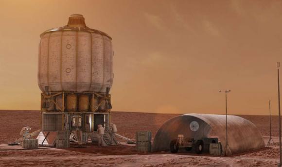 Un hábitat marciano propuesto por Boeing (Boeing/NASA).