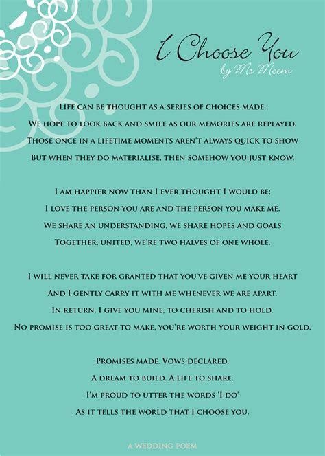I Choose You   A Wedding Poem   Ms Moem   Poems. Life. Etc.