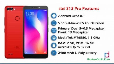 itel S13 Pro Price in Bangladesh, Full Specification