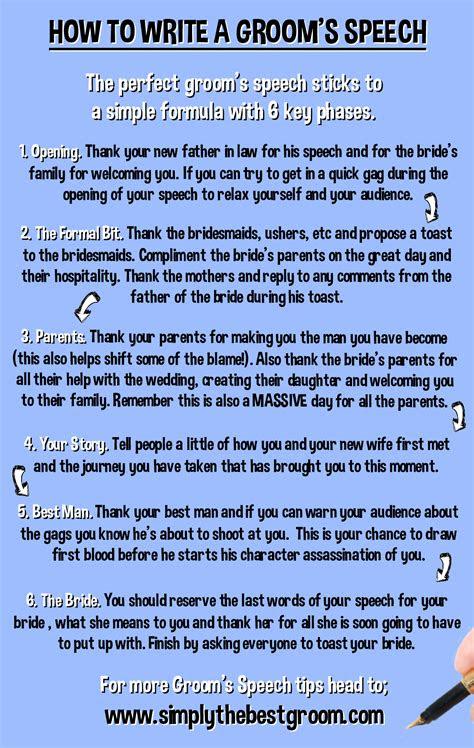 write  grooms speech wwwsimplythebestgroomcom